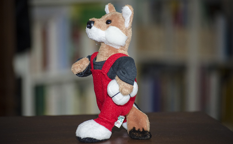 foXXy – Jubiläumsmaskottchen der fox COURIER GmbH zum 20jährigen
